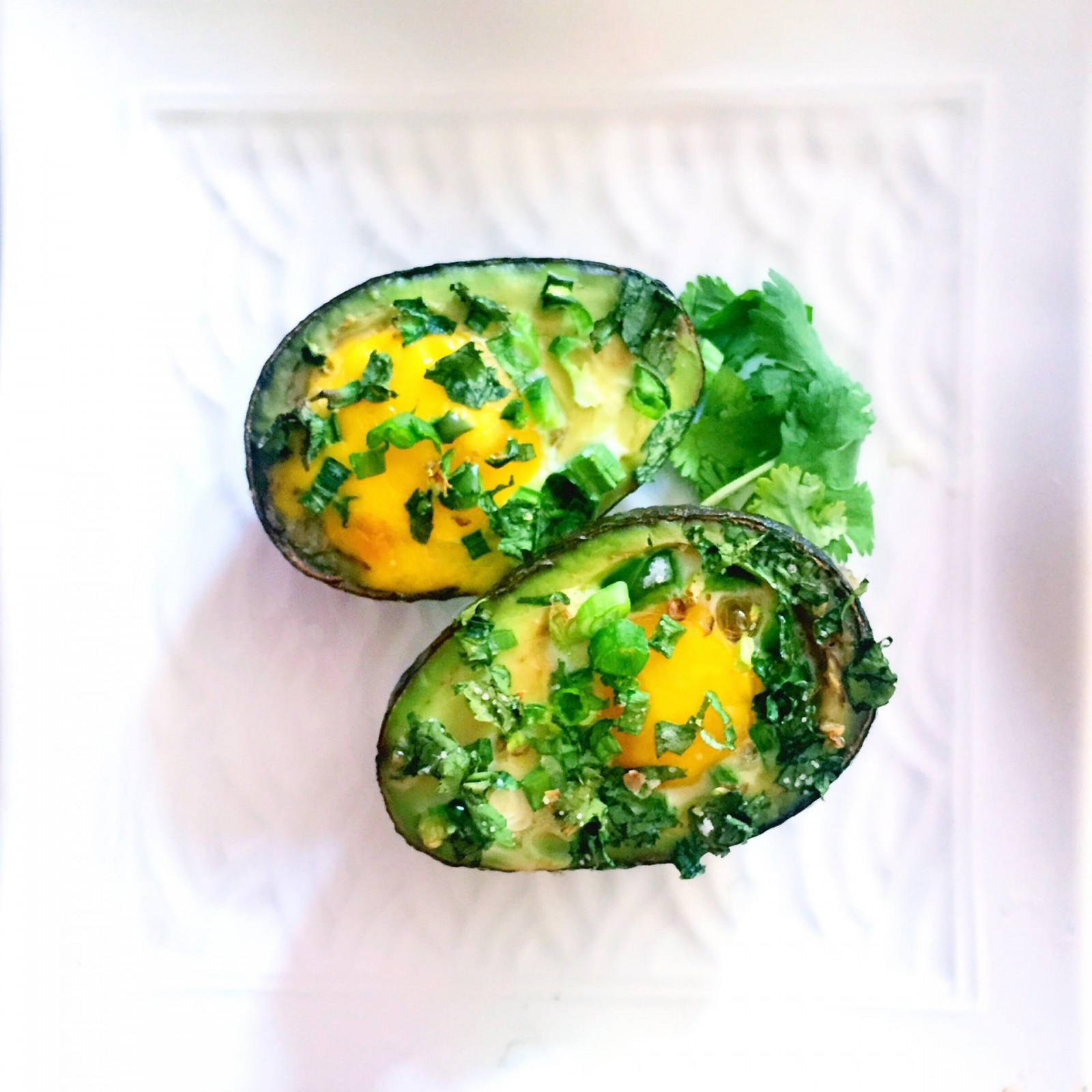 Weekend Recipe: Baked avocado stuffed with eggs